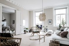 A Bright Scandinavian Apartment in Gothenburg (Gravity Home) Dark Living Rooms, Cottage Living Rooms, Living Room Shelves, Elegant Living Room, Living Room Storage, Paint Colors For Living Room, Living Room With Fireplace, Living Room Interior, Home Living Room