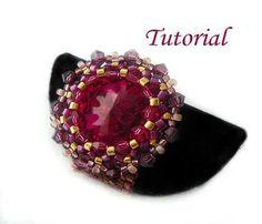 Beading Tutorial Pink Bling Ring by http://ellad2.com