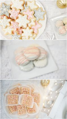Winter Wonderland Party Treats! See the entire party on www.prettymyparty.com.