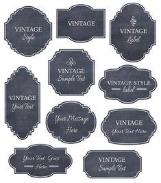 Chalkboard Labels Clip Art // Digital Frames // Vector EPS Editable // DIY Cards Invitation // Design // Instant Download // Vintage Style