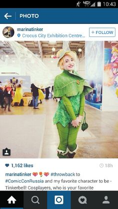 The best Tinkerbell cosplay ever. If we have tinkerbell, she should definitely have the Lost Treasure costume.