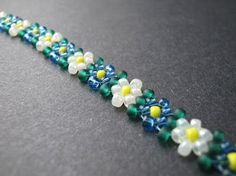 DIY beaded potawatomi Daisies step by step photo tutorial