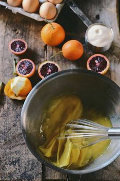 blood orange curd with honey bourbon | A Brown Table