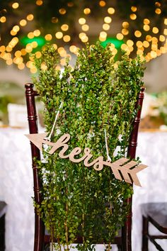 hers chair sign | Al Gawlik Photography | Glamour & Grace