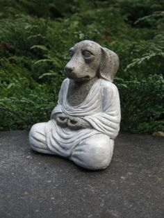 Diy poop bag dispensers help your neighbors keep the environment dog buddha meditating zen like statue by westwindhomegarden solutioingenieria Images