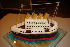 Step by step titanic cake