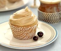 Coffee Cupcakes -- no cake mix used - made from scratch, but does not require cake flour! :)