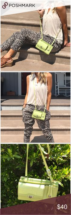 Brighton cross body! Delightful brand new never used lime green cross body. Fabulous for adding a pop to any outfit all week!. I wear I thin less then cross bodies they are easy chic and hands free! Brighton Bags Crossbody Bags