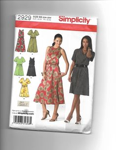 Simplicity 2929 by CraftingMoose on Etsy