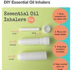 How to make an Essential Oil Inhaler