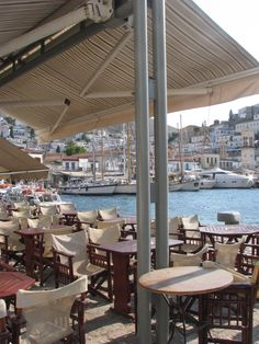 Hydra, Greece Trip - morning cafe