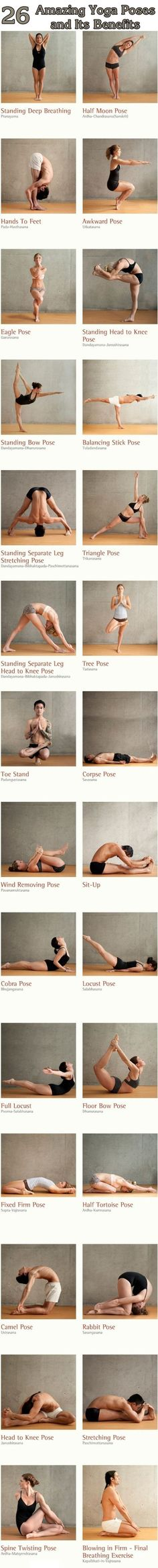 Amazing yoga poses and its benefits [ SkinnyFoxDetox.com ] #yoga #skinny #health