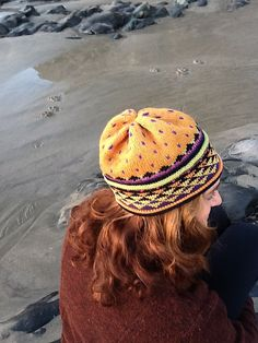Love this hat pattern and the colors, plus the pattern is free to download at http://www.ravelry.com/patterns/library/golden-triangle-hat