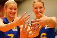 Sweden's volleyball juniors getting ready for the 2014 CEV U19 Volleyball European Championship - Women