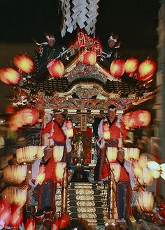 The great float of Chichibu night festival, Saitama, Japan