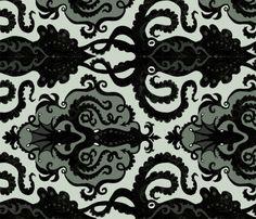 Victorian Octopus fabric by elegantprodigyprint on Spoonflower - custom fabric