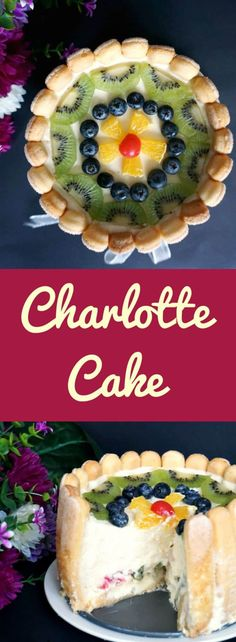 Charlotte Cake or the Romanian Diplomat Torte, a deliciously light no-bake dessert with ladyfingers, whipped cream, custard cream and fruit. The perfect choice for any party, from the New Year's Eve Party, to birthdays or any other celebration. Refreshing, silky, what a treat! #charlottecake, #tortdiplomat, #nobakecake, #nobakedessert