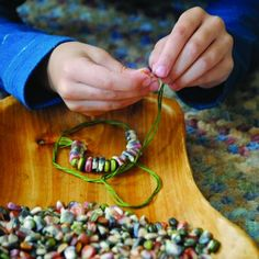 Native Corn Necklace, good fall project