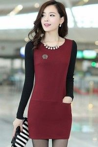 Sweet Knitted Sleeve Bodycon Dress