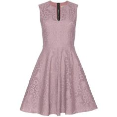 Burberry London English Lace Dress ($1,750) ❤ liked on Polyvore featuring dresses, burberry dress, lace dress, purple cocktail dress, mauve dress and lacy dress