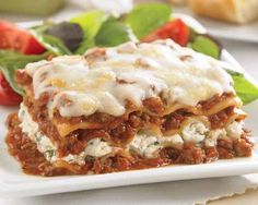 Family Meat Lasagna with Four Cheeses