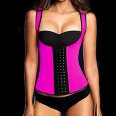 8486f9e740b Barato Mulheres sexy hot corset cinto de emagrecimento neoprene látex  trainer cintura modelagem alça shapewear body