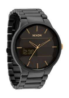 My favorite variation of The Spencer by Nixon. Matte Black / Gold