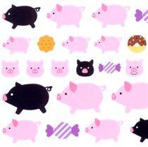 kawaii  animals pig donut stickers by Q-Lia - Sticker Sheets - Sticker - Stationery