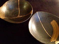 Kogane Gift - Twin Kintsugi Kintsugi, Gift Store, Serving Bowls, Twin, Plates, Tableware, Gifts, Licence Plates, Dishes