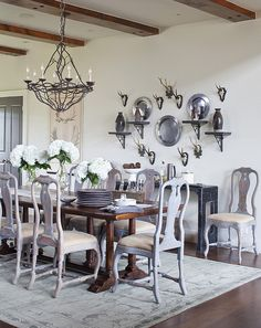 dining room, western chic