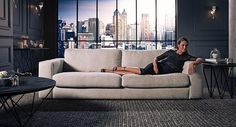 Celia fabric lounge