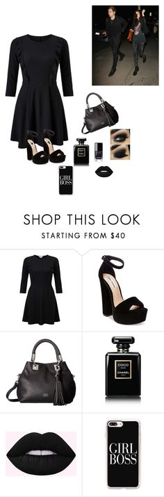 """Party with Luke and arzaylea"" by sophiehemmings18 ❤ liked on Polyvore featuring Miss Selfridge, Steve Madden, Vince Camuto, Chanel and Casetify"
