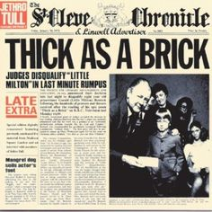 Jethro Tull -Thick As a Brick - Classic Album Covers