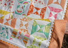 zinnia quilt top - a by twinfibers, via Flickr