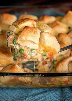 The Rise Of Private Label Brands In The Retail Meals Current Market Chicken Pot Pie With Biscuits I Heart Recipes Biscuit Chicken Pot Pie, Homemade Chicken Pot Pie, Chicken Pot Pie Casserole, Recipe For Chicken Pot Pie With Biscuits, Creamy Chicken, Healthy Chicken Pot Pie, Chicken Recipes, Chicken Soup, Fried Chicken