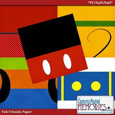 Fab Friends Digital Scrapbook Paper by Capturing Magical Memories