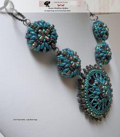 Beading Tutorial Jewelry Pattern Circular Peyote by LadyAbeada