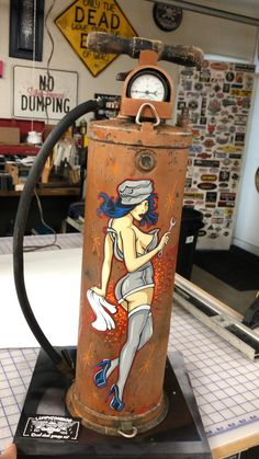 Pin Up Girls, Cool Car Drawings, Pin Up Pictures, Pinup, Garage Organisation, Pinstripe Art, Overhead Garage Storage, Pinstriping Designs, Jerry Can