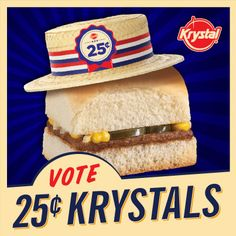 """Famous Krystal Burgers for only a quarter? If enough people go to our Facebook Page & Vote """"Yes"""" we'll do it!"""