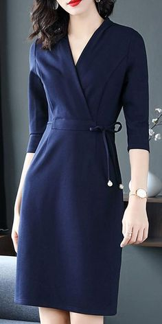 fall outfits for work Fall Outfits For Work Dresses in a Budget, Casual work dresses, summer and winter work dress outfits, professional work dresses. Casual Work Dresses, Work Dresses For Women, Clothes For Women, Chic Outfits, Dress Outfits, Women's Dresses, Fashion Dresses, Wrap Dresses, Dance Dresses