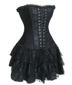 Sexy Corset with Skirt . Starting at $5 on Tophatter.com!
