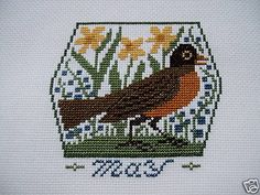 Completed Prairie Schooler Cross Stitch     MAY