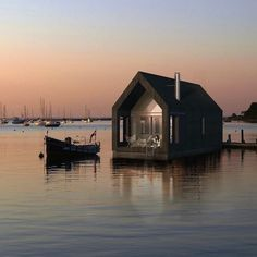 Modern houseboat design is braving uncharted waters. | 28 Houseboats That Will Make You Want To Float Away