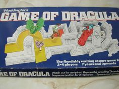 Sheltering For the Night in This Ruined Castle,You Are Horrified to Find That it is in Fact Count Dracula - the Lair of the Bloodthirsty Count Dracula and His Pet Vampires. Beware the Prowling Dracula! Count Dracula, Collections Of Objects, Vintage Board Games, Scary Monsters, Ready To Play, My Childhood Memories, Horror Movies, Stone Pathways, Nostalgia