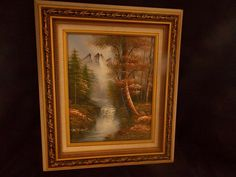 VINTAGE MOUNTAIN/WATERFALL PICTURE PRINT W/FRAME. #Vintage How To Antique Wood, Antique Art, Vintage Wood, Picture Frame Art, Wooden Picture Frames, Photo On Wood, Picture On Wood, Primitive Pictures, Mountain Waterfall