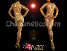 Charismatico Dancewear Store - CHARISMATICO Sheer nude Diva's sexy catsuit with shiny golden sequined accents , $210.00 (http://www.charismatico-dancewear.com/charismatico-sheer-nude-divas-sexy-catsuit-with-shiny-golden-sequined-accents/)