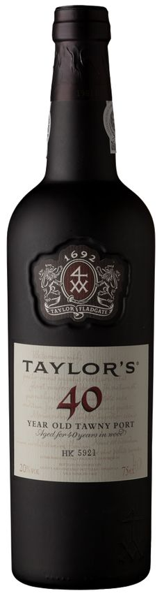 Taylor's 40 Year Old aged tawny #Port, winner of the Gold Medal in the 2012 Decanter World Wine Awards.