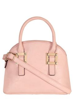 Blush plate mini bowler bag