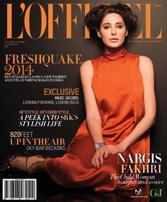 Nargis Fakhri - L'Officiel Magazine Cover [India] (January 2014)