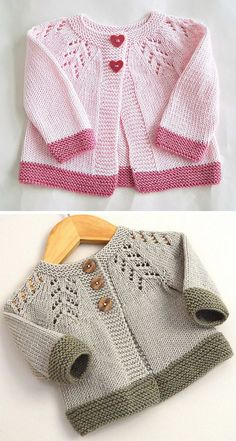 open section knitting for babies